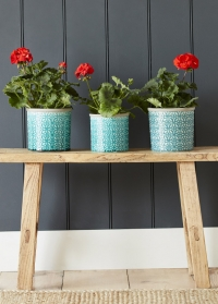 Кашпо керамическое, M  Tuscany Blue Indoor Pots Collection Burgon & Ball