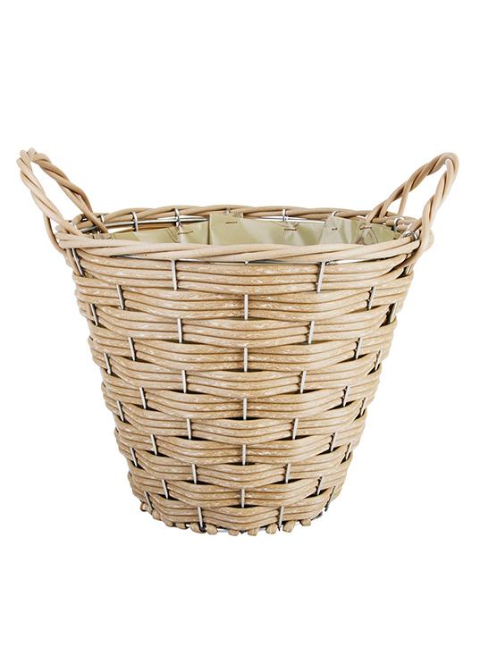 Плетеная корзинка для цветов своими руками